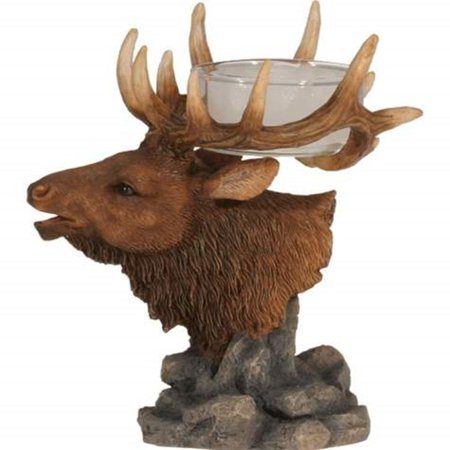 SS--14225 Elk Head With Antlers Collectible Tea Light Figurine Statue, 4