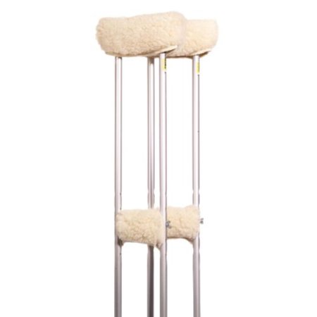Sheepette Crutch Covers, Closest synthetic to real sheepskin! By Essential Medical Supply