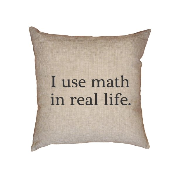 how to use decorative pillows hilarious i use math in real life decorative linen throw cushion how to use throw pillows on a bed decorative linen throw cushion