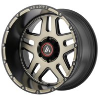 "Asanti AB809 Enforcer 17x9 5x5"" -12mm Black/Machined/Tint Wheel Rim 17"" Inch"
