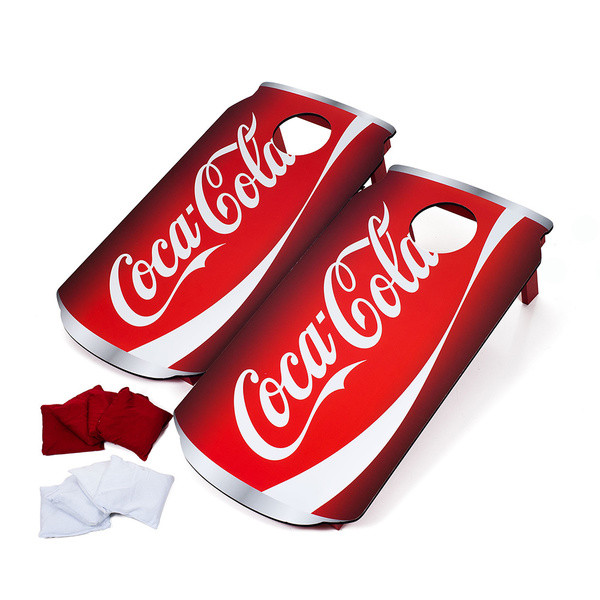 Trademark Licensed Coca Cola Can Portable Cornhole Game