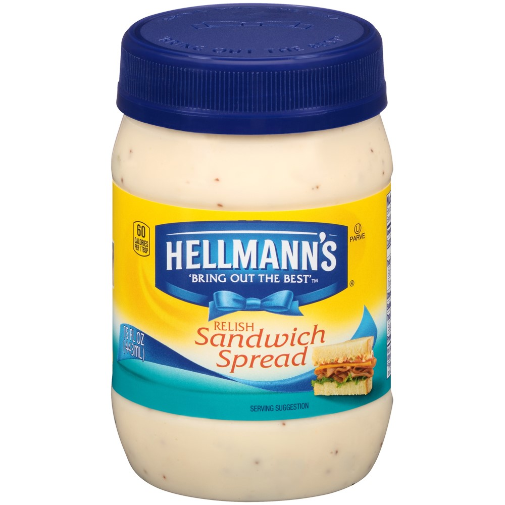 Hellmann's Relish Sandwich Spread, 15 oz