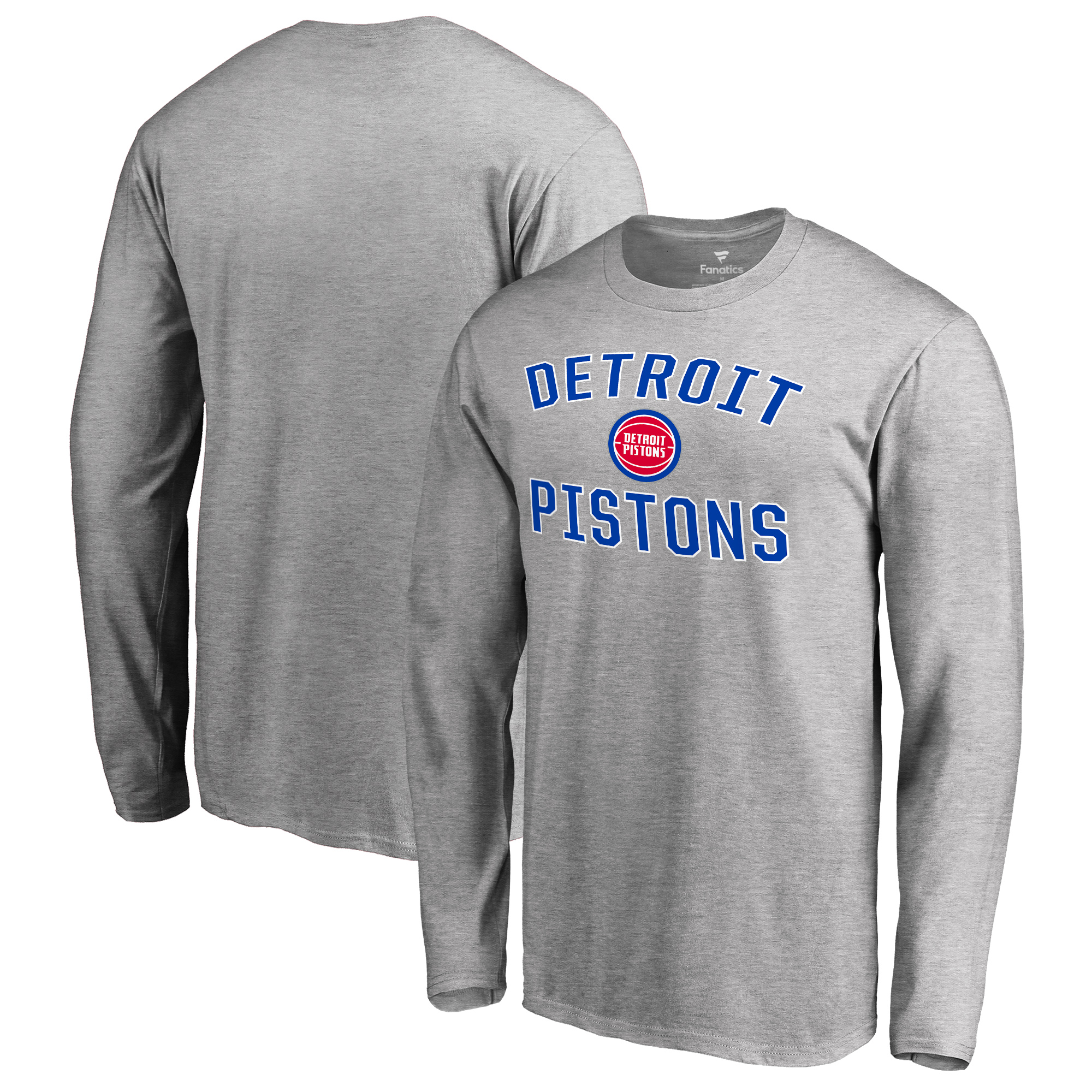 Detroit Pistons Big & Tall Victory Arch Long Sleeve T-Shirt - Ash