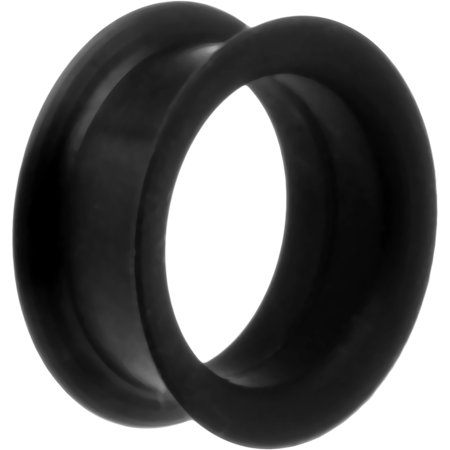 Body Candy Silicone Flexible Black Tunnel Plug 1 Piece) 25mm (Black Flexible Silicone Tunnel)