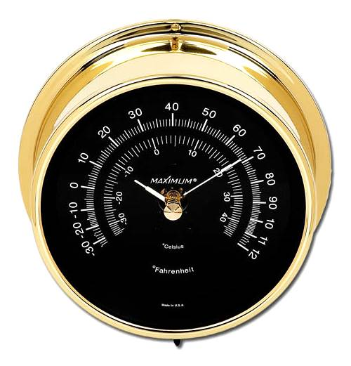 Mini-Max Dual Scale Thermometer w Brass Case