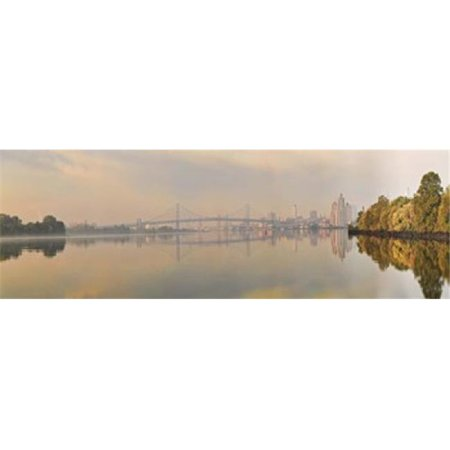 Bridge across a river  Benjamin Franklin Bridge  Delaware River  Philadelphia  Pennsylvania  USA Poster Print by  - 36 x 12 - image 1 of 1