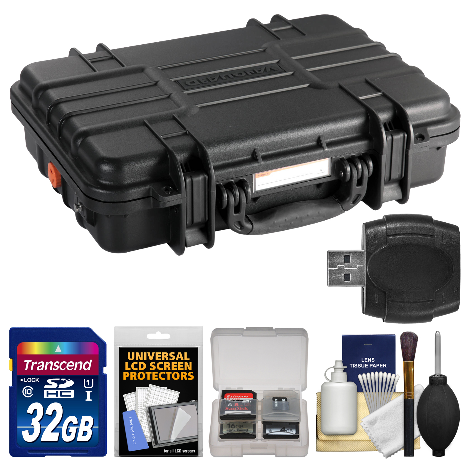 Vanguard Supreme 38F Waterproof and Airtight Hard Case with Foam with 32GB Card + Accessory Kit
