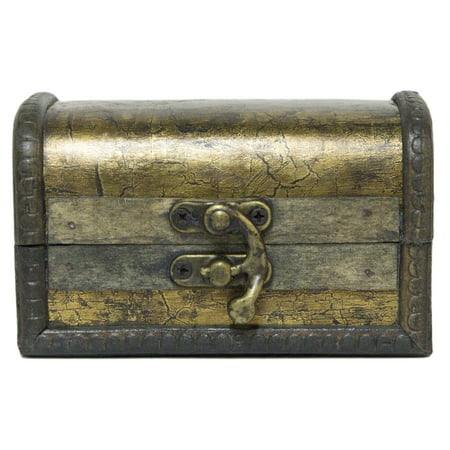Small Pirates Booty 4.5 Inch Gold Painted Wooden Treasure Chest / Stash Box](Small Wooden Box Plans)