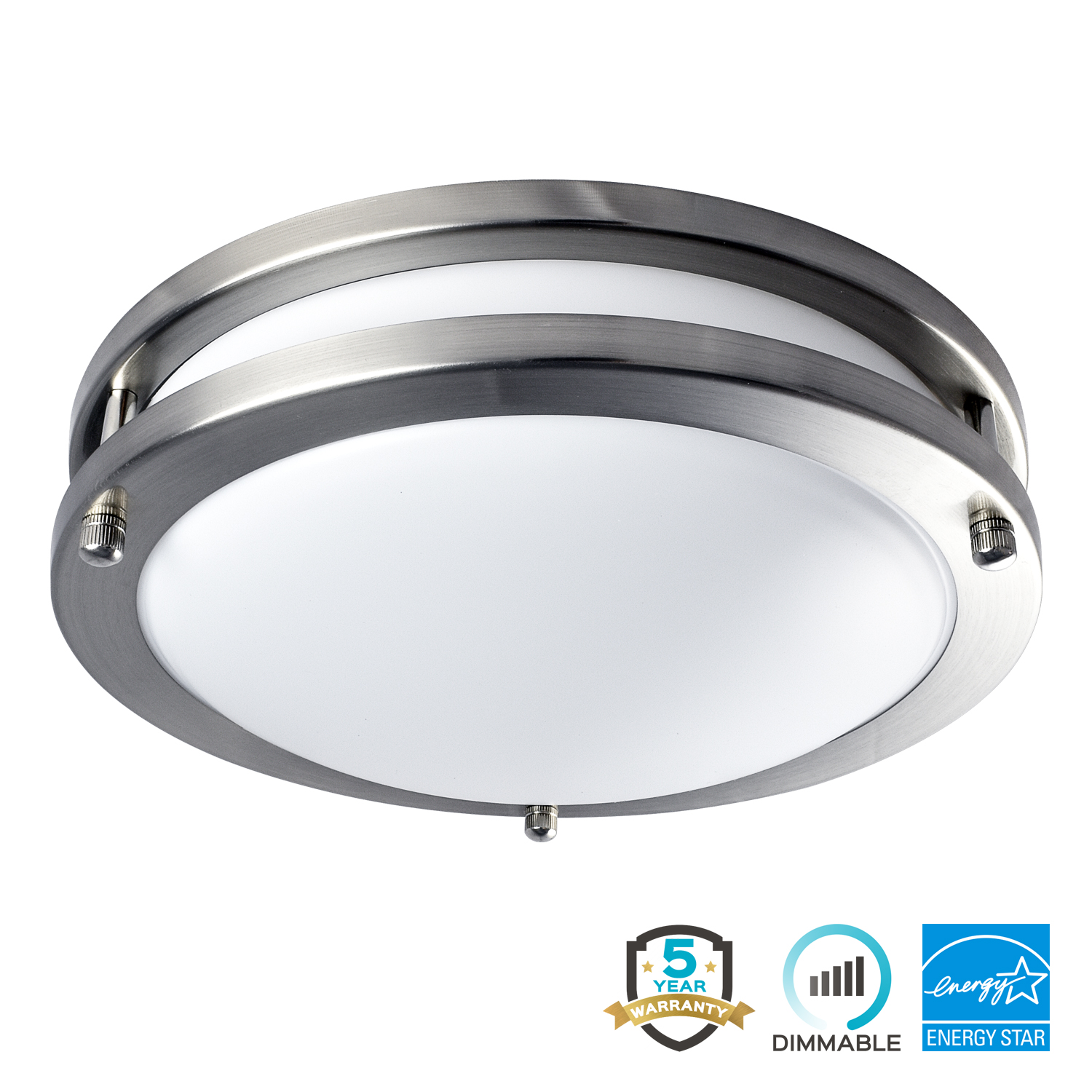 Luxrite LED Flush Mount Ceiling Light, 10 Inch, Dimmable, 3000K Soft White, 1000 Lumens, 14W Ceiling Light Fixture,... by Luxrite