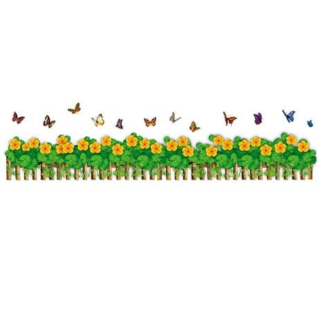 Cl ture pvc chambre motif papillons diy autocollant for Autocollant mural walmart