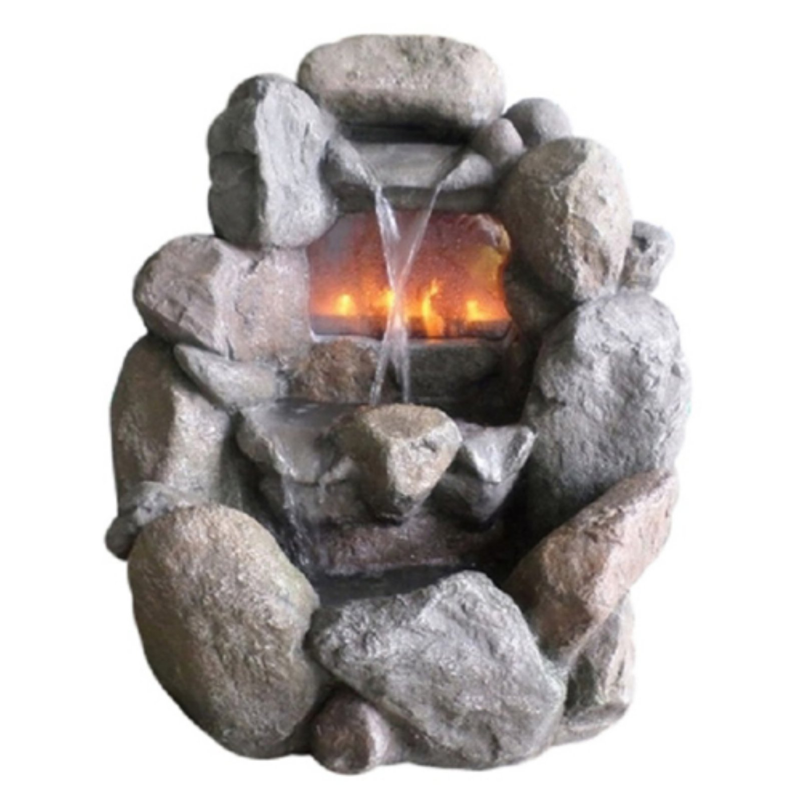 Northlight Stone Fireplace Waterfall Outdoor Water Fountain