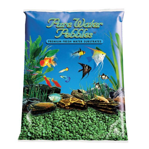 Pure Water Pebbles Aquarium Gravel 2-Pound Emerald Green (Pack of 1) by World Wide Imports Enterprise, Inc.