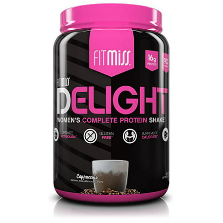 FitMiss Delight Protein Powder, Cappuccino, 16g Protein, 2 (Best Low Carb Protein Shakes For Weight Loss)