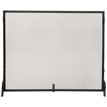 Uniflame Single Panel Haven Fireplace Screen (Contemporary Wood Fireplace Screen)