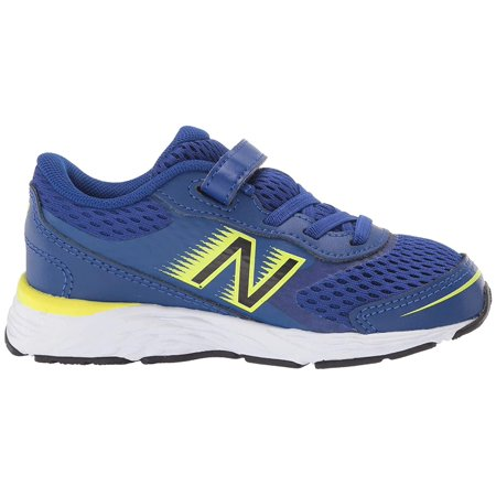 New Balance Kids 680v6 (Infant/Toddler) Marine Blue/Lemon Slush Marine Kids Shoes