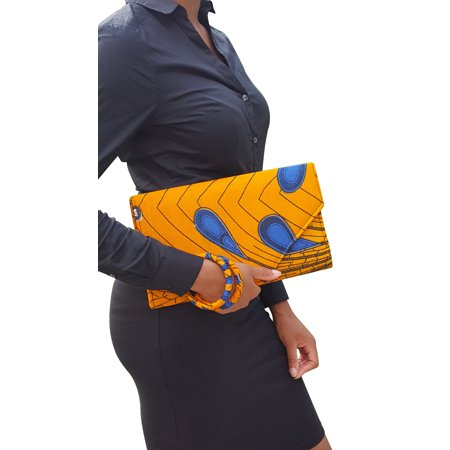 Peacock African Print Clutch Purse ()
