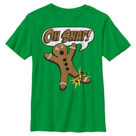 Boys' Oh Snap Christmas Gingerbread Man T-Shirt ()