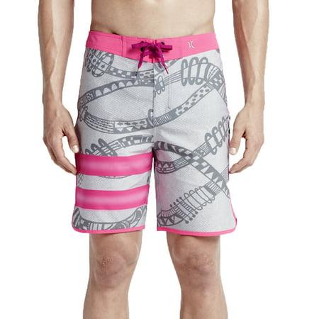 - Hurley Mens Phantom Julian Snapper Fashion Board Shorts Grey/Pink