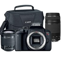 Canon EOS Rebel T7i 24.2MP DSLR Camera with 18-55mm Lens , 75-300mm Lens and Canon 100ES Case
