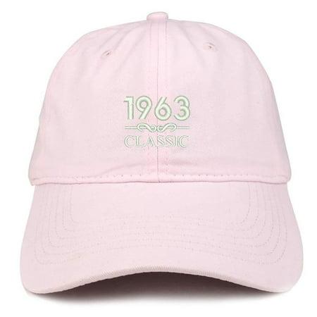 Trendy Apparel Shop Classic 1963 Embroidered Retro Soft Cotton Baseball Cap  - Light Pink - Walmart.com d29c55386c7f