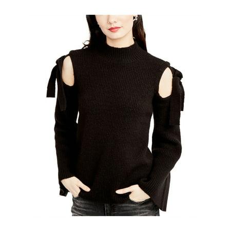 Rachel Roy Womens Cold Shoulder Knit Sweater black XL - image 1 de 1
