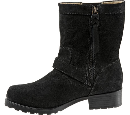 softwalk bellville women n/s round toe suede black ankle boot