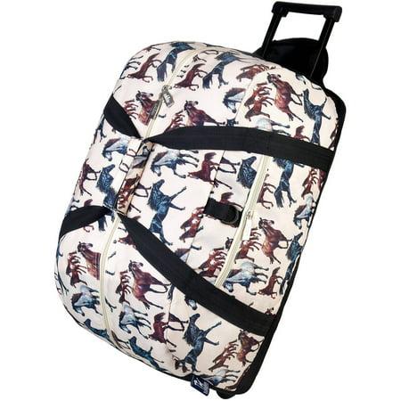 Wildkin Horse Dreams Rolling Duffel Bag