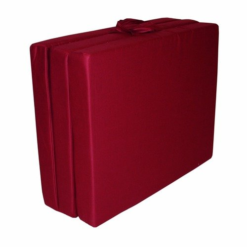 Elite Products Burgundy Twin Tri-Fold Floor Mat (Poly Cotton)