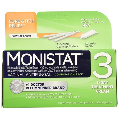 6 Pack Monistat 3 Vaginal Antifungal Combination 3 count (Yeast Infection Won T Go Away With Monistat)