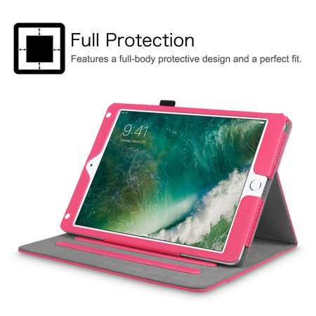 Fintie Multi-Angle Viewing Case Cover for iPad 9.7 6th / 5th Gen 2018 2017, iPad Air 1/2, Hot Pink - image 3 of 7