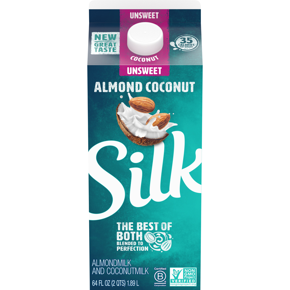 Silk Almond Coconut Milk Unsweetened Blend - 0.5gal