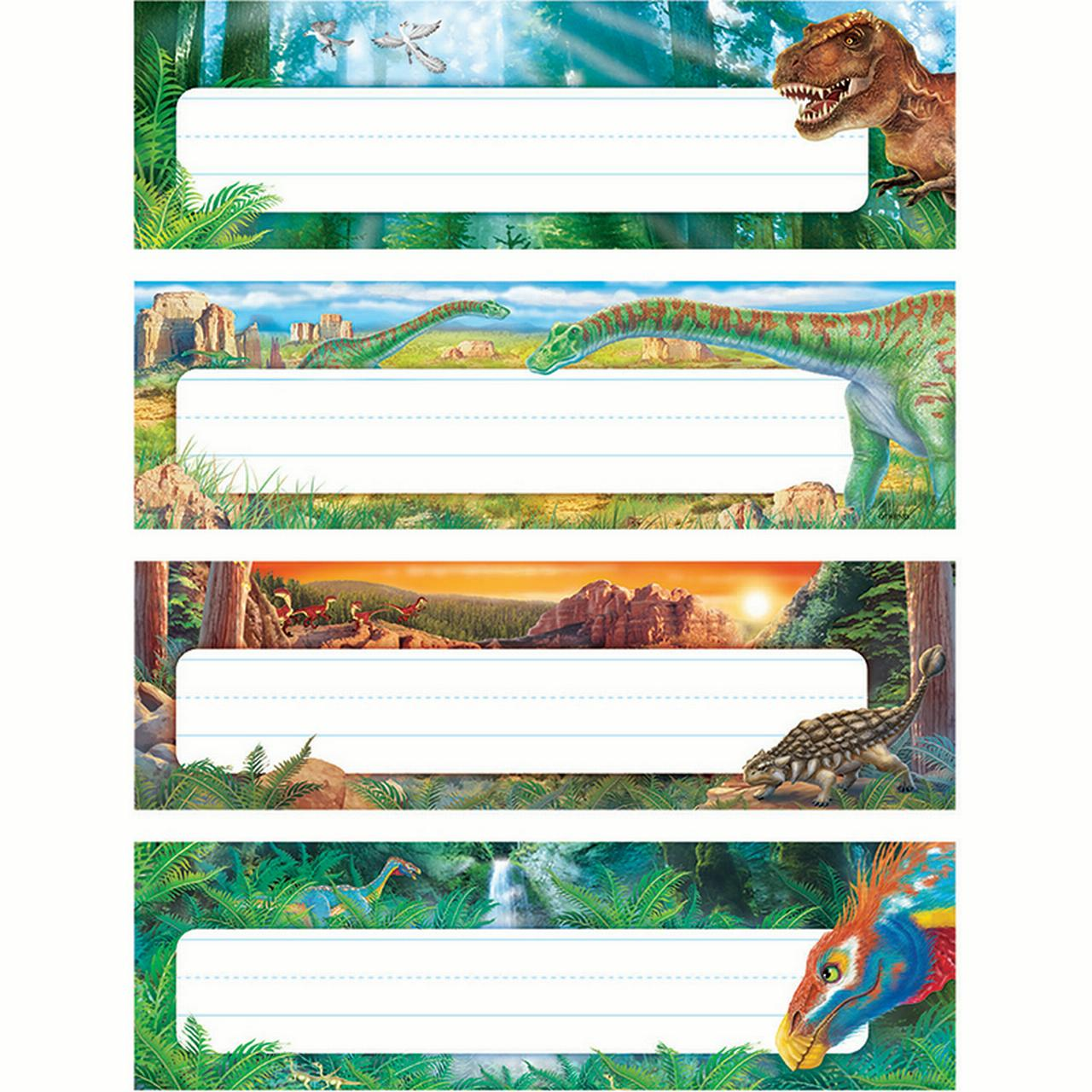 DISCOVERING DINOSAURS DESK TOPPERS NAME PLATES VARIETY PACK