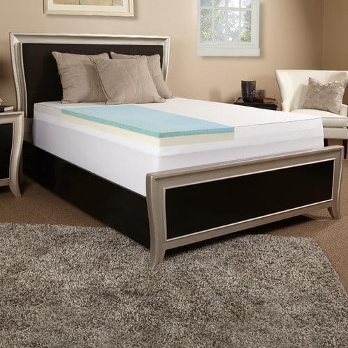 Luxury Solutions 3'' Gel Memory Foam Mattress Topper