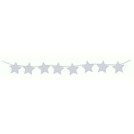 Diamond Banner Star Hanging Banner Birthday Wedding Decoration Props Décor (Silver Wedding Anniversary Banners)