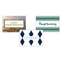 CEO Cards Anniversary Business Greeting Card Assorted Box Set of 25 Cards & 26 Envelopes - VP1602