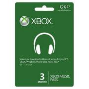 Xbox Music Pass 3 Month (Xbox 360)
