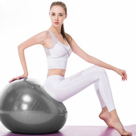 UBesGoo 55cm/65cm/75cm/85cm Exercise Ball,  Extra Thick Yoga Ball Chair, Anti-Burst Heavy Duty Stability Balance Ball, with Air Pump, for Fitness Core Strength