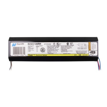 Magnetek B232I120RH Electronic Fluorescent Ballast, 2 Lamp, F32T8, 32W T8, (Fluorescent Ballast Voltage)