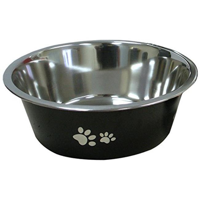 IMS 04222 New Cadet Stainless Steel Dog Bowl - 3 Quart, Black