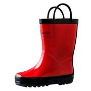 Oakiwear Kids Rain Boots For Boys Girls Toddlers Children, Fiery Red