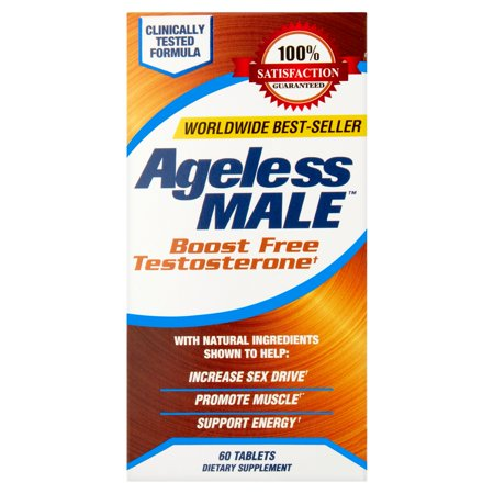 Ageless Male Testosterone Booster Dietary Support Supplement Tablets  60 Ct
