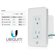 Ubiquiti mFi-MPW-W White mFi In-Wall Manageable Outlet WiFi Access Energy Mntrng