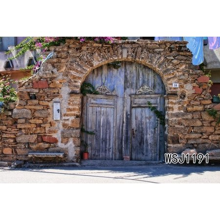 HelloDecor Polyster 7x5ft The Old Stone House Halloween Theme Photography Backdrop Studio Background Photo Backdrops Studio Props (Old Halloween Photos)