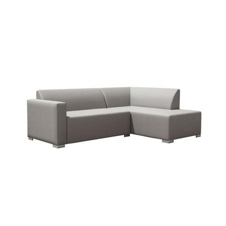 Torino Corner Sofa Collection Light Grey Left
