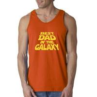 Trendy USA 715 - Men's Tank-Top Best Dad in The Galaxy Star Wars Opening Crawl 2XL Navy