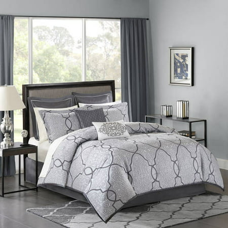 Silver Octavia Complete Bed Set (California King) 12pc