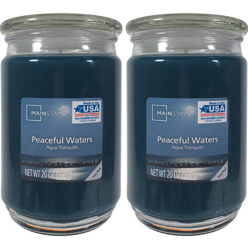 Mainstays 2-Pack Scented Candles, Peaceful Waters, 20 oz by Candle-lite