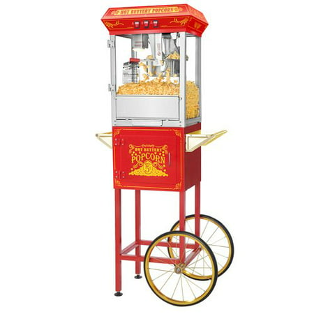 Great Northern Popcorn Red Good Time Popcorn Popper Machine Cart  8 Ounce