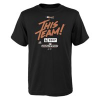 Los Angeles Dodgers Majestic Youth 2017 Division Series Clincher Locker Room T-Shirt - Black