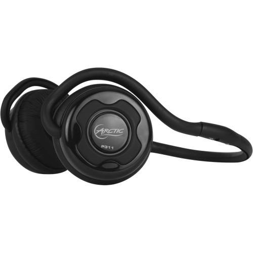 Arctic P311-BLACK Arctic P311 Stereo Bluetooth Headset - Stereo - Black - Wireless - Bluetooth - 98.4 ft - 18 Hz - 22 kHz - Behind-the-neck - Binaural - 95 dB SNR - Supra-aural